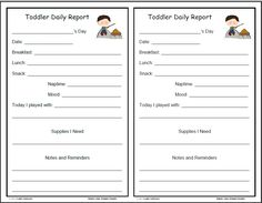 infant blank lesson plan sheets | Camping Fun daily forms for infants - toddlers and preschoolers, and ...