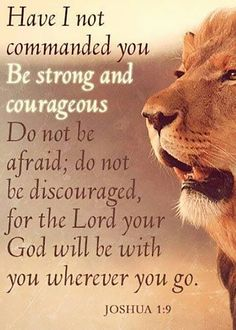Have I not commanded you Be strong and courageous? Do not be afraid; do not be discouraged, for the LORD your God will be with you wherever you go. – Joshua 1:9   TonyEvans.org