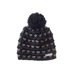 Merrell Women's Merrell Sayre Beanie - Black Winter Hats ($35) ❤ liked on Polyvore featuring accessories, hats, black, black beanie, black pom beanie, slouchy beanie, pom pom hat and slouchy hat