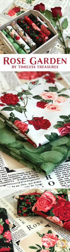 Rose Garden is a gorgeous collection from Timeless Treasures Fabrics available at Shabby Fabrics