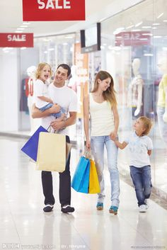Family with two children in the store Target Customer, Second Child, Presentation Design, Children, Store, Shopping, Image, Design Ideas, Park