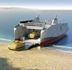 L-CAT Shore-to-Shore Landing Catamaran Fast Landing Craft amphibious warfare Fast Boats, Speed Boats, Brown Water Navy, Ocean Habitat, Marine Traffic, Amphibious Vehicle, Landing Craft, Us Navy Ships, Armored Fighting Vehicle