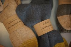 Hand-knitted socks at the Cork Craft & Design shop in Cork Knitting Socks, Hand Knitting, Artisan & Artist, Cork Crafts, Design Shop, Home Decor Items, Design Crafts, Ireland, Winter Hats
