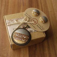"43 Likes, 1 Comments - Handmade Jewelry Kvičke Kvačke (@kvickekvacke) on Instagram: ""Finally.. big pendants coming soon :) #woodenjewelry #woodenearrings #jewelryset #silver…"""