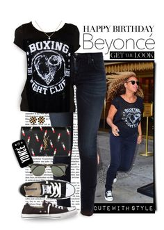 """""""Happy Birthday, Beyonce!"""" by shortyluv718 ❤ liked on Polyvore featuring Nudie Jeans Co., Converse, Yves Saint Laurent, Ray-Ban, Chanel and happybirthdaybeyonce"""