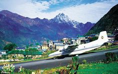 Lukla airport... one of the most dangerous airport of the world... look at the view its stunning
