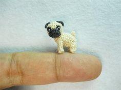 pug!!! micro-mini amigurumi  !