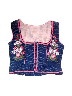 DIRNDL corset top EMBROIDERY polka dots