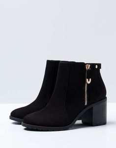 Bershka Russian Federation -BSK zipper detail heeled ankle boots