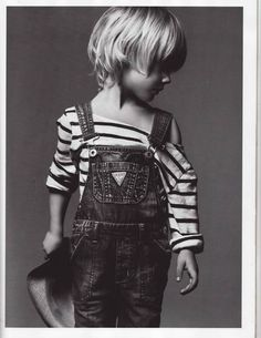 ... overalls with strips are perfecto!