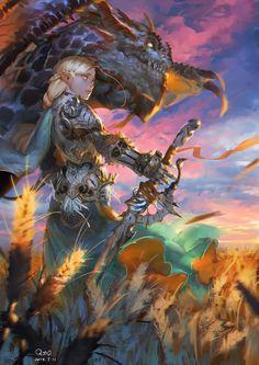 Dragon Knight, 羅 光佑 on ArtStation at https://www.artstation.com/artwork/8koaO