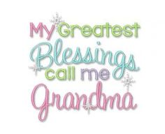 All Designs :: Grandma Blessing