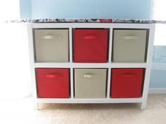 My first project! Cubby Shelf with Ironing Board Top | Do It Yourself Home Projects from Ana White