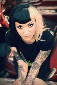Love her tattoos but so in love with that hair