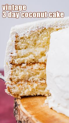 Where did 3 Day Coconut Cake Originate? This coconut cake is vintage. How vintage? I'm not quite sure. It is in several of my old church cookbooks that date back into the 70's. Usually those recipes came from newspaper clippings or the back of cake mix boxes. I'm not sure who created this cake, but I thank whoever did because now I have a new favorite. Cool Whip Frosting, Whipped Frosting, Round Cake Pans, Round Cakes, Make Ahead Desserts, Tres Leches Cake, Box Cake Mix, White Cake Mixes, Almond Cakes