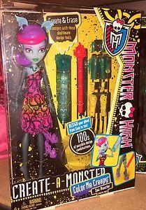 Monster High Create A Monster Cam Sea Monster Doll Color Me Creepy New | eBay