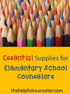 Stocking up on supplies? Check out my list of essential supplies. #schoolcounseling
