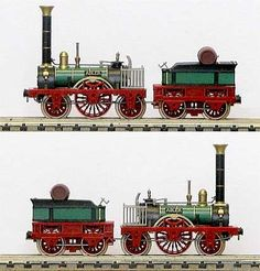 Der Adler, the first commercial loco in Germany (1835). Built by Stevenson, dismantled, shipped to Bavaria and reassembled. Used on the Lidwigsbahn. — Z Scale (1:220) by Railex.