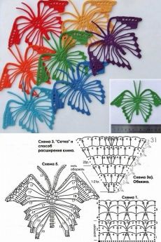 Details about 1912 Titanic Era Vintage Irish Crochet Butterfly Motif Applique Pattern DIY Garb Crochet Chart, Crochet Motif, Crochet Doilies, Crochet Patterns, Doilies Crafts, Crochet Stitches, Crochet Butterfly Pattern, Crochet Flower Tutorial, Crochet Leaves