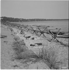 Sunbathing in the southernmost beaches of Finland Hanko 1942.08.18 [4900 x 4961]