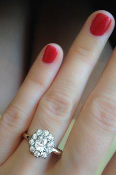 Vintage Engagement Ring Edwardian Cluster! From Erstwhile.