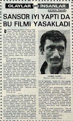 Yılmaz Güney ile ilgili bir sansür haberi: ''Sansür iyi yaptı da bu filmi yasakladı'' Hasan Pulur (1970 Milliyet) #istanlook