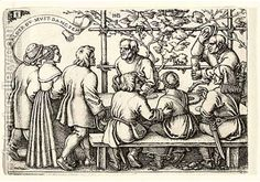 Village Wedding No 8 - Peasant's Feast, 1546, Hans Sebald Beham, Franfurt