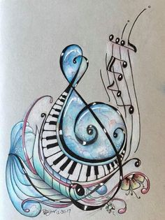 Music notes Trebel clef design