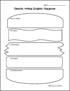 Opinion Writing Graphic Organizer FREEBIE Could change to 5 things you know about a CC art element Opinion Writing, Persuasive Writing, Teaching Writing, Teaching Tools, Opinion Essay, Teaching Ideas, Paragraph Writing, Essay Writing, Writing Resources