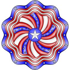 Don't Eat the Paste: Stars and Stripes Mandala Coloring Page