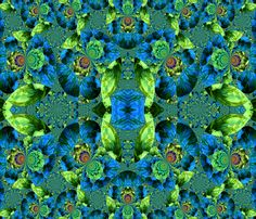 Flowers_in_Snow6 fabric by k_shaynejacobson on Spoonflower - custom fabric