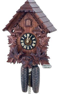 Feeding Birds Cottage Cuckoo Clock 8 day ~ Hones