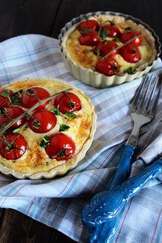 Tomatentarte mit Ei und Käse › Schön und fein