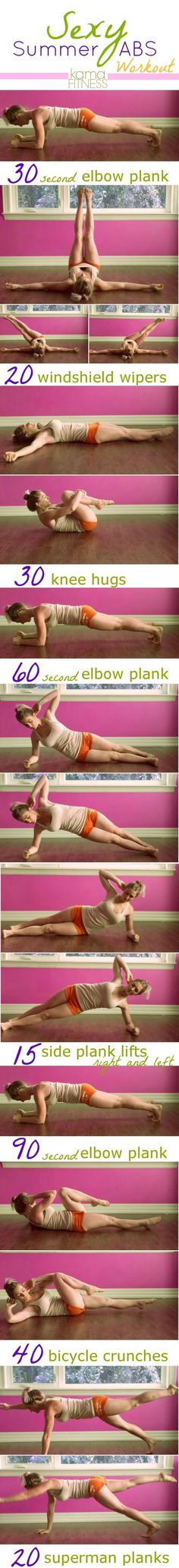 Sexy Abs Workout Planks! www.fitness4anywhere.com