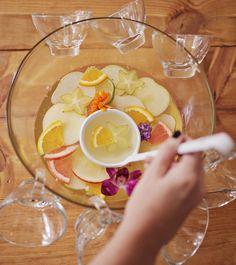 Four seasons punch w/ Sofia sparkling! www.abeautifulmess.com