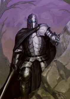 m Fighter Plate Armor Helm Cloak Sword hills rough forest mountains lvl Vanlereux Character Portraits, Character Drawing, Character Concept, Concept Art, Character Design, Fantasy Armor, Medieval Fantasy, Dnd Characters, Fantasy Characters