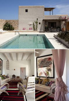 As promised, another gorgeous Spanish home today! Also this house, that I found through French by Design, in located on Formentera. Outdoor Spaces, Outdoor Living, Outdoor Decor, Interior Natural, Spanish Modern, Spanish Style, Minimalist Architecture, Spanish House, My Dream Home