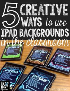 Utilize the iPad backgrounds and lock screens on students iPads for collaborative groups, to review expectations, and more. 5 ways to use this key real estate in your classroom iPad management plan.