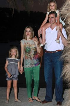 Princess Letizia - Prince Felipe and his wife Princess Letizia Out and About