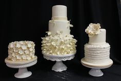 Beautiful Brides Magazine: Winter White Cakes