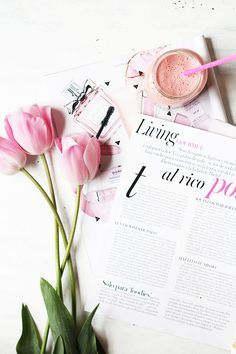 Pink Flat Lay photo inspiration | Flatlay photo ideas | Blog photography