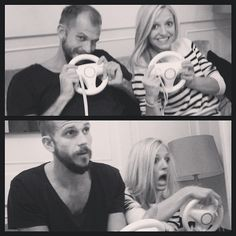 It's not TF, but I love this pic of Gustaf Skarsgård and Maude Hirst ::: Vikings' Floki and Helga.