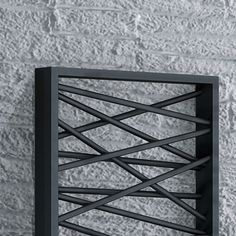 Mikado modern towel warmer, black
