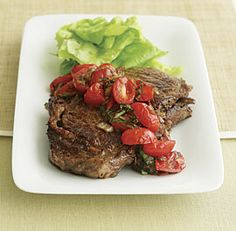 Seared Flank Steak with Shallot-Mustard Sauce