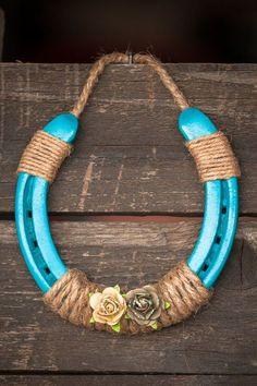 Turquoise Horse Shoe by JAKsVintageThings on Etsy