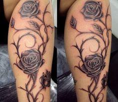 Bilderesultat for tattoo rosa preto puro
