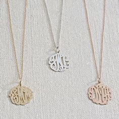 Monograms please.