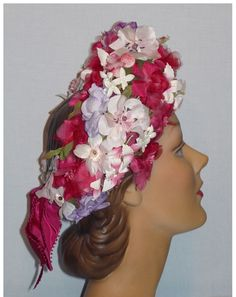 1960s halo of flowers hats designed by Sally Victor Headlines