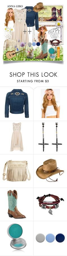 """""""Spring is here!"""" by annagiro ❤ liked on Polyvore featuring Retrò, AG Adriano Goldschmied, Dorothy Perkins, Jean-Paul Gaultier, Charlotte Russe, Ariat, Bling Jewelry, CARGO, Burberry and Burt's Bees"""