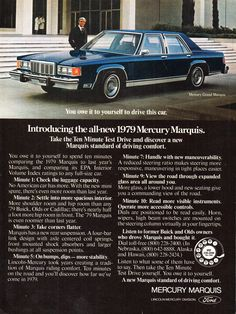 Volkswagen Transporter T2, Mercury Marquis, 70s Cars, Ford Ltd, Mercury Cars, Grand Marquis, Car Posters, Station Wagon, Driving Test